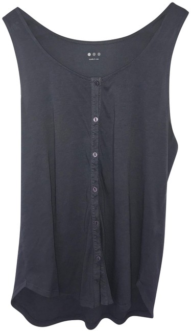 Three Dots Gray Button Tank Top/Cami Size 4 (S) Three Dots Gray Button Tank Top/Cami Size 4 (S) Image 1
