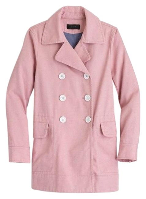Item - Mauve Pink Peacoat In Heavyweight Cotton Twill Jacket Size Petite 2 (XS)