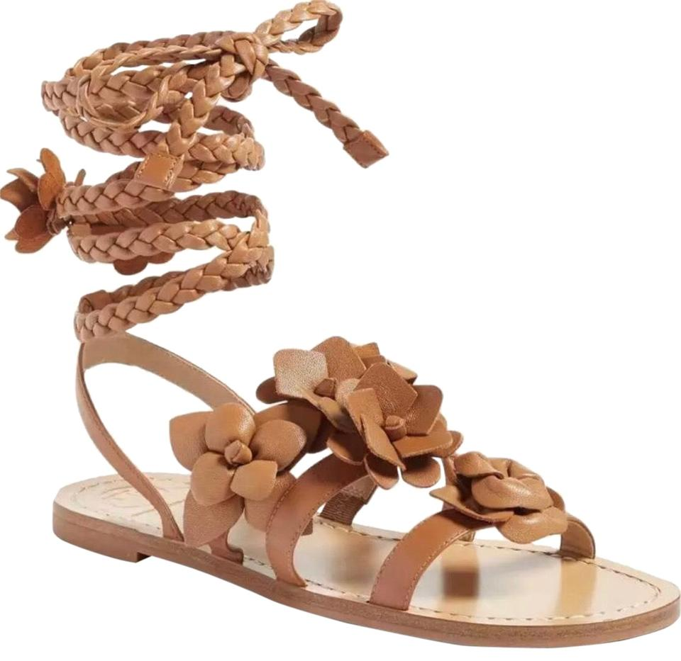 beb3c63cb7a98 Tory Burch Royal Tan Blossom Gladiator Sandals Size US 7.5 Regular ...