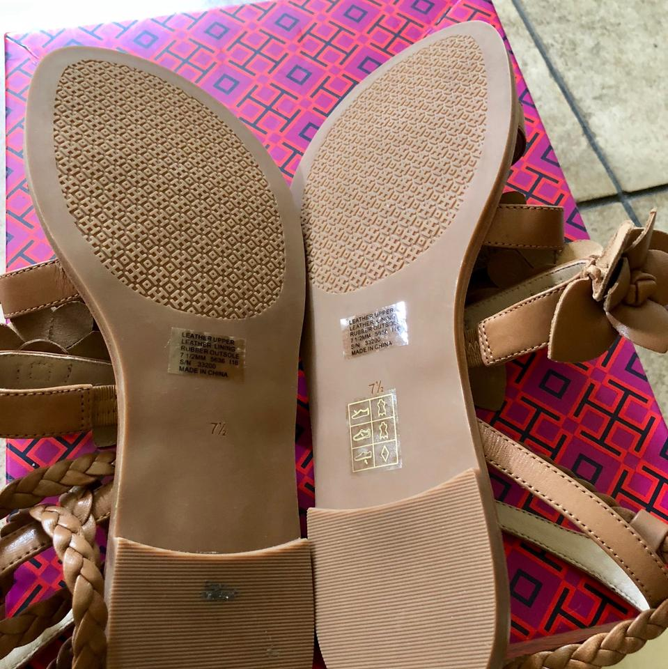 56bf4daca755 Tory Burch Royal Tan Blossom Gladiator Sandals Size US 7.5 Regular ...