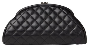 Chanel Classic Lambskin Black Clutch