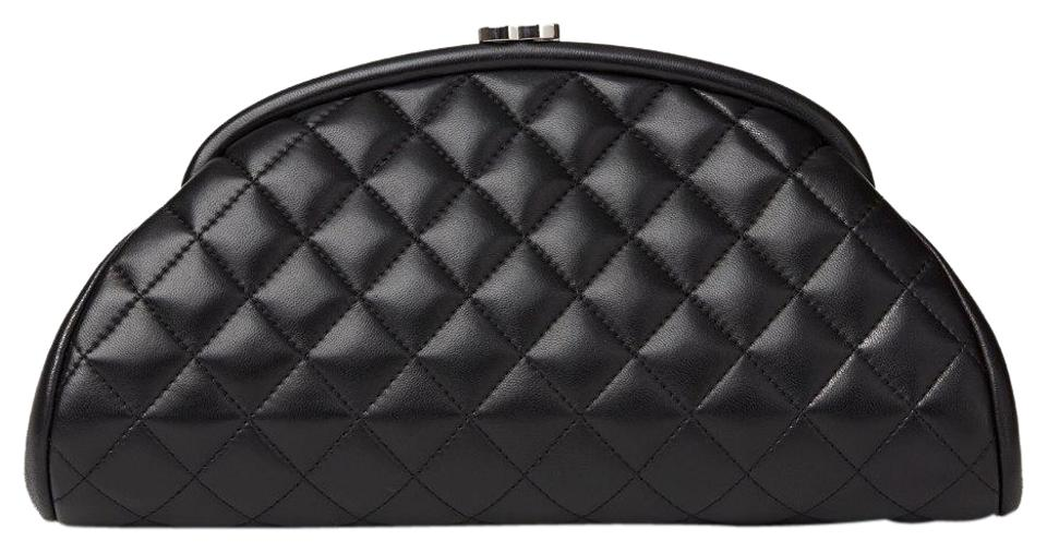 35783b515a08 Chanel Timeless Quilted Silver Hardware Black Lambskin Leather ...