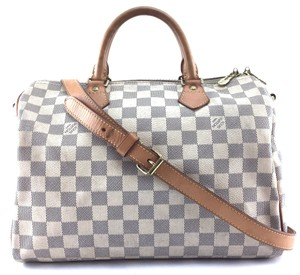 6a7b1aebbecd Louis Vuitton Damier Azur Speedy Bags - Up to 70% off at Tradesy