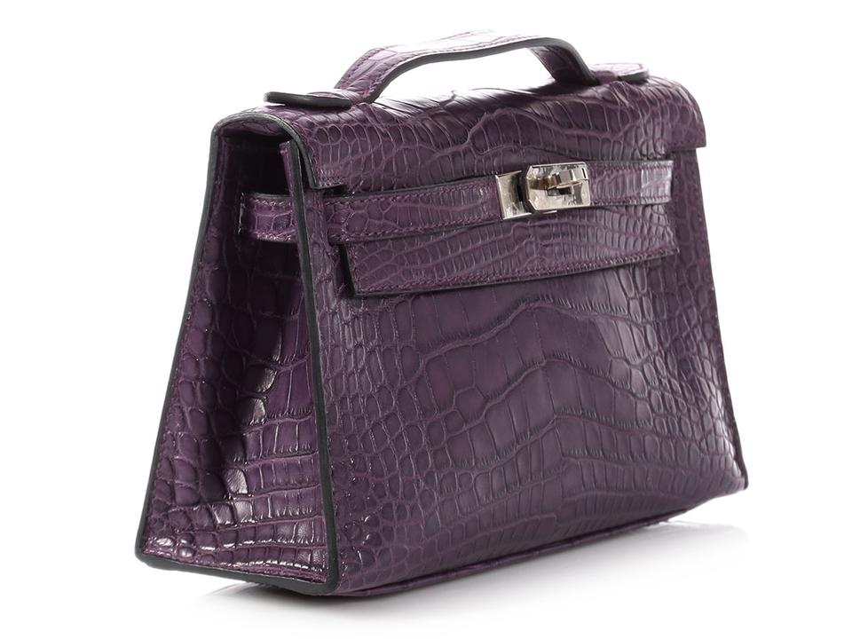 713ccce87f5 Hermès Kelly Pochette Matte Amethyst Purple Alligator Skin Leather Clutch -  Tradesy