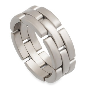 Cartier Cartier 18K White Gold Maillon Panthere Ring Size: 9