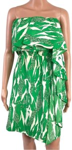 MM Couture short dress Green/White on Tradesy