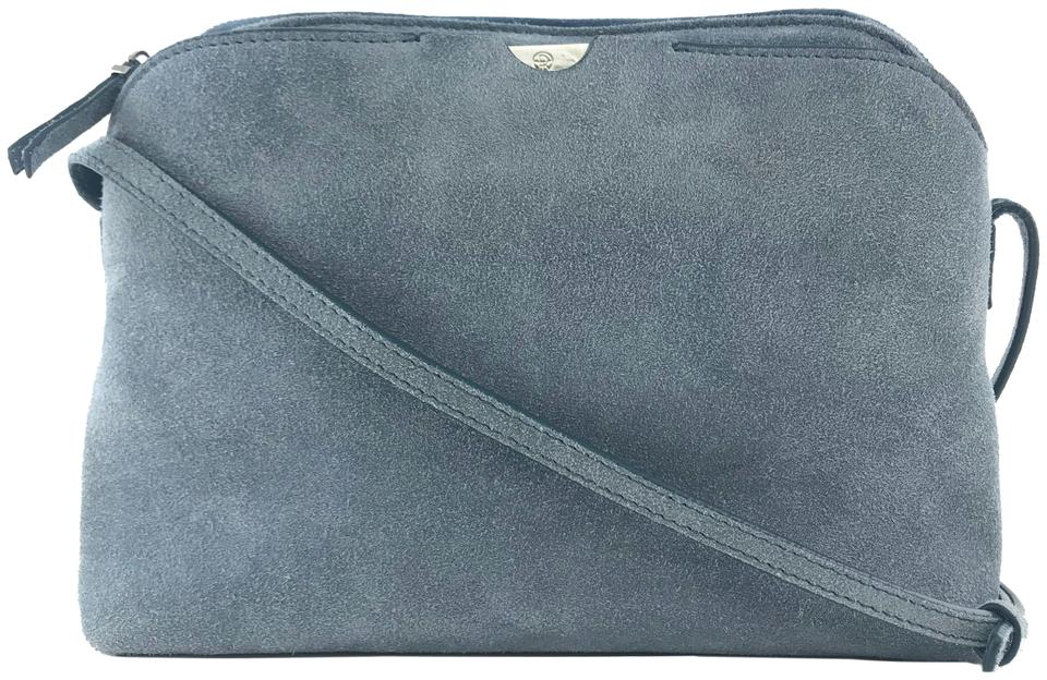 81fcaa76b The Row Multi Pouch Light Blue Suede Leather Cross Body Bag - Tradesy