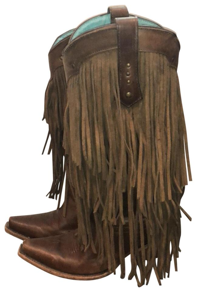 Ladies Corral Boots Brown its Fringe Boots/Booties Known for its Brown good quality 51bbd5