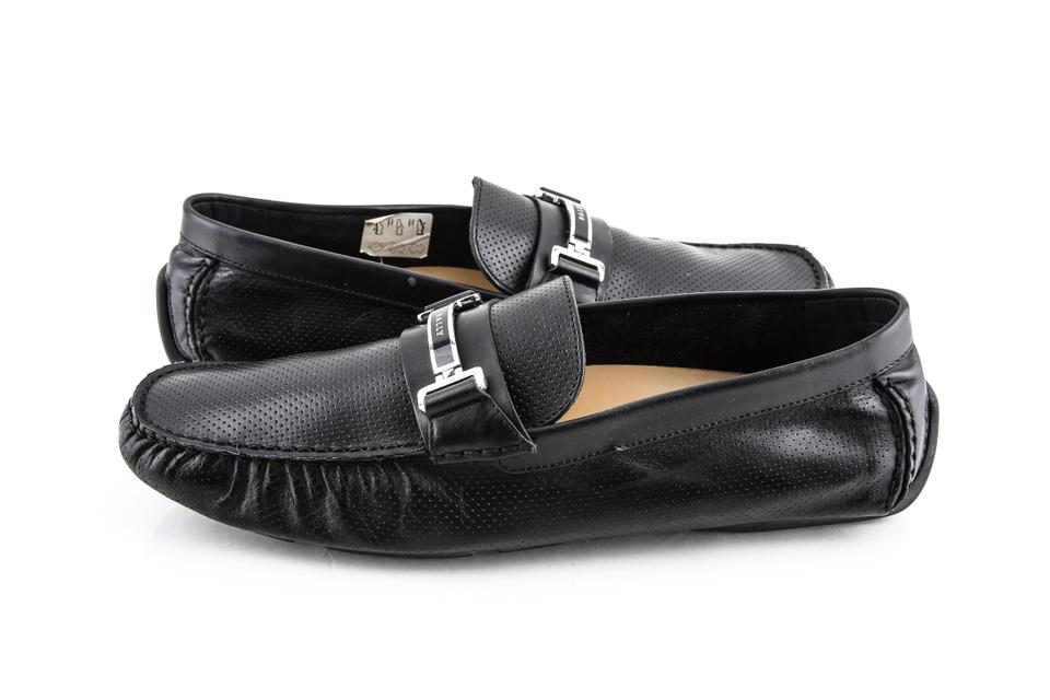 b665584c36 Bally Black Wabler Leather Driver Shoes Image 0 ...
