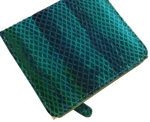 Barneys New York Small Snake-Printed Leather Wallet