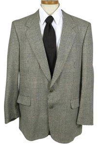 Austin Reed Mens Plaid Vintage Black, White Blazer