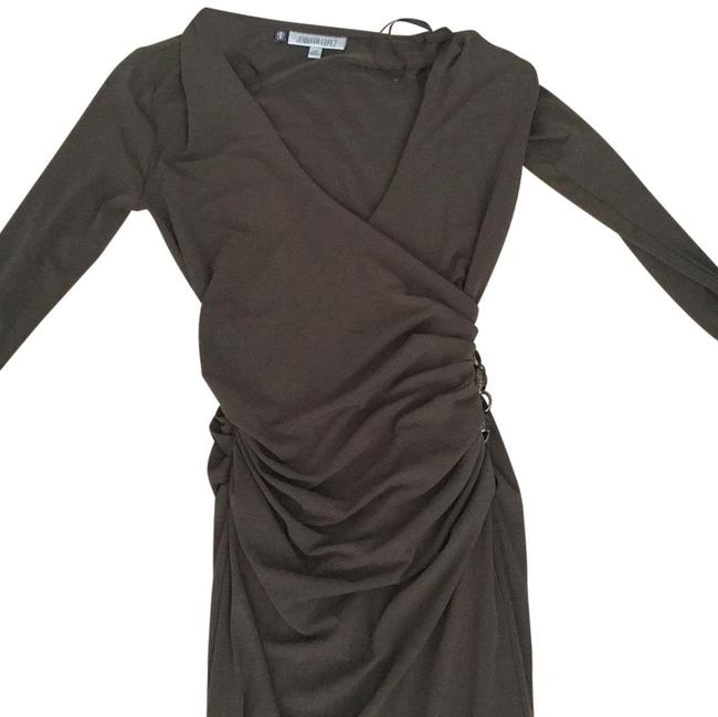 Preload https://item5.tradesy.com/images/jennifer-lopez-chocolate-brown-73277-mid-length-workoffice-dress-size-0-xs-24009144-0-2.jpg?width=400&height=650