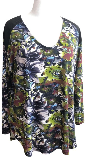 Preload https://img-static.tradesy.com/item/24009150/anthropologie-green-long-sleeves-floral-tunic-size-16-xl-plus-0x-0-1-650-650.jpg