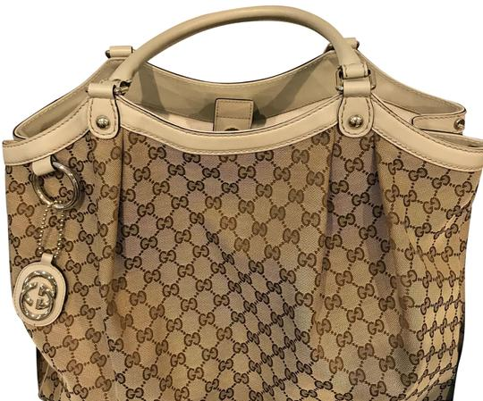 Preload https://item5.tradesy.com/images/gucci-sukey-tan-canvas-hobo-bag-24009154-0-1.jpg?width=440&height=440