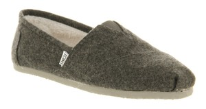 TOMS Wool Slippers Comfortable Breathable Moister-wicking grey Flats