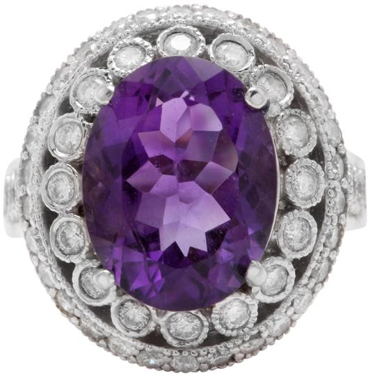 Preload https://item3.tradesy.com/images/14k-white-gold-890ctw-natural-amethyst-and-diamond-in-women-ring-24009167-0-1.jpg?width=440&height=440