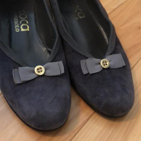 Coca By Maraolo Grey Suede and grosgrain trim and Bow Flats