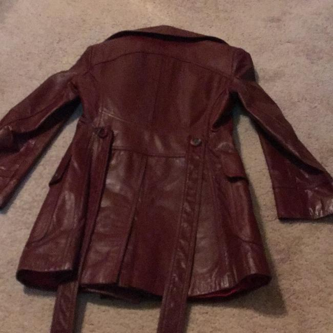 Etienne Aigner Red/Rust Leather Jacket