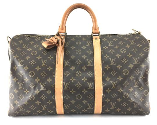 Preload https://item4.tradesy.com/images/louis-vuitton-keepall-22107-50-bandouliere-duffel-monogram-coated-canvas-weekendtravel-bag-24009208-0-1.jpg?width=440&height=440