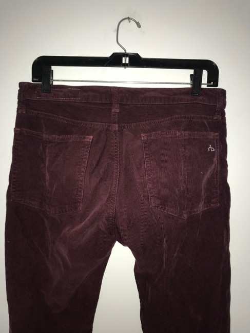 Rag & Bone Skinny Pants Burgundy