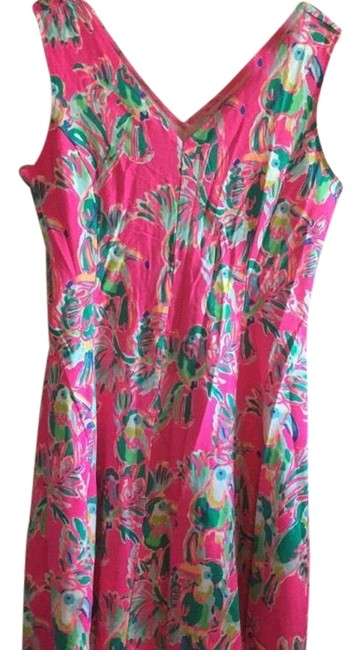 Preload https://item3.tradesy.com/images/lilly-pulitzer-pink-dahlia-toucan-short-casual-dress-size-12-l-24009227-0-1.jpg?width=400&height=650