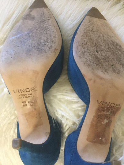 Vince Blue Pumps