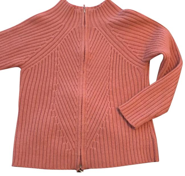 Preload https://item1.tradesy.com/images/mauve-zip-up-knitted-detailed-cardigan-sweaterpullover-size-8-m-24009285-0-1.jpg?width=400&height=650