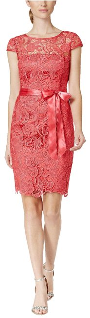 Preload https://item4.tradesy.com/images/adrianna-papell-french-coral-lace-cap-sleeve-illusion-sheath-mid-length-formal-dress-size-6-s-24009318-0-1.jpg?width=400&height=650