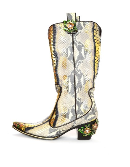 Preload https://img-static.tradesy.com/item/24009328/vicini-multi-colored-gold-silver-python-cowboy-w-enamel-flowers-design-bootsbooties-size-eu-38-appro-0-0-540-540.jpg