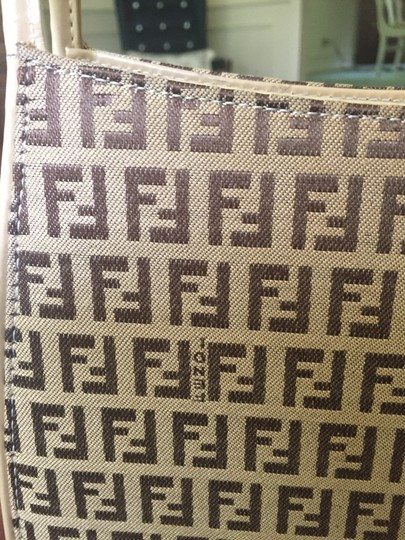 Fendi Monogram Like New Logo Shoulder Bag
