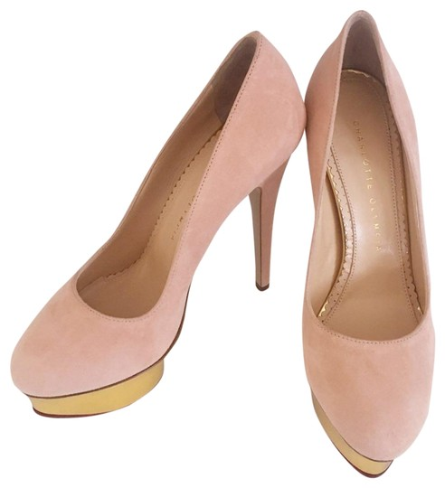 Preload https://item5.tradesy.com/images/charlotte-olympia-blush-pink-dolly-signature-platform-suede-in-pumps-size-eu-37-approx-us-7-regular--24009334-0-1.jpg?width=440&height=440
