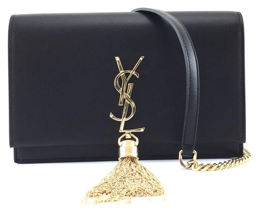 Preload https://item5.tradesy.com/images/saint-laurent-monogram-kate-22067-with-tassel-long-chain-shoulder-flap-black-leather-cross-body-bag-24009354-0-1.jpg?width=440&height=440