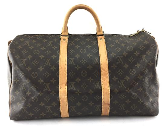 Preload https://item3.tradesy.com/images/louis-vuitton-duffle-keepall-22114-50-duffel-monogram-coated-canvas-weekendtravel-bag-24009372-0-1.jpg?width=440&height=440