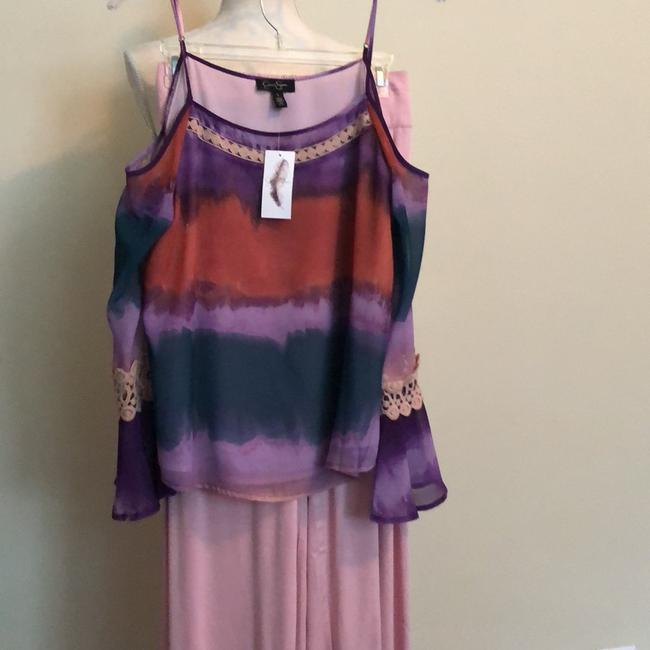 Preload https://item5.tradesy.com/images/jessica-simpson-multicolor-top-mauveblue-and-solid-mauve-casual-pant-suit-size-6-s-24009374-0-0.jpg?width=400&height=650