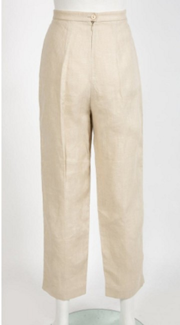 Dries van Noten Straight Pants Ecru