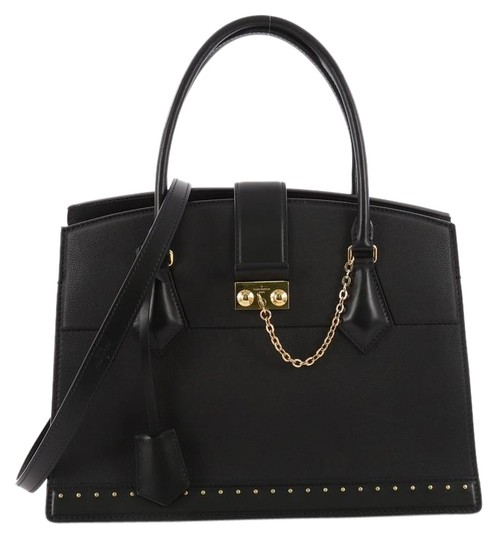 Preload https://item2.tradesy.com/images/louis-vuitton-cour-marly-marly-with-studded-detail-mm-black-leather-tote-24009386-0-1.jpg?width=440&height=440