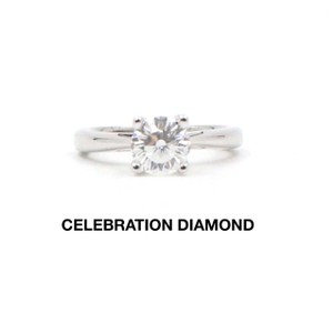 I Si1-2 Round Cut 1.09 Tcw 18k White Gold Engagement Ring