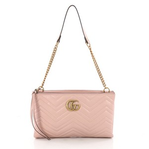 0c531751ac9 Added to Shopping Bag. Gucci Leather Shoulder Bag. Gucci Marmont Double Zip  Chain Matelasse Medium Pink ...