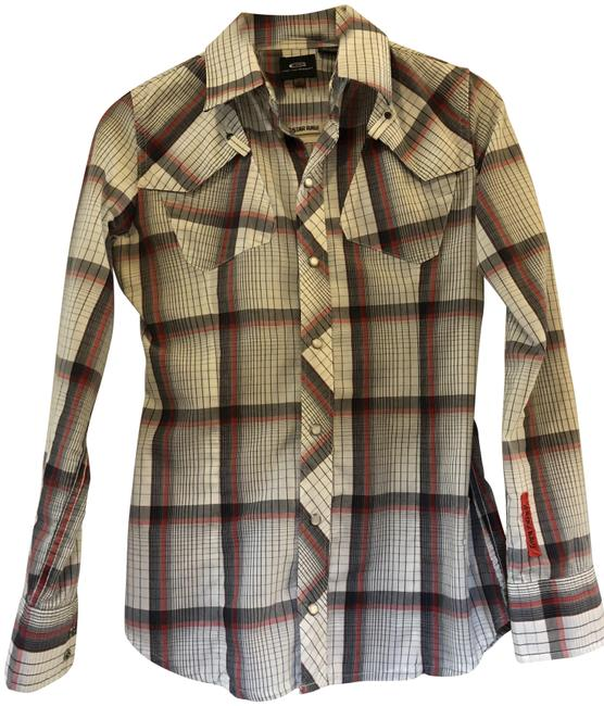 Preload https://item2.tradesy.com/images/g-star-raw-white-plaid-button-down-top-size-2-xs-24009446-0-1.jpg?width=400&height=650