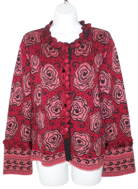 Preload https://item2.tradesy.com/images/covelo-intarsia-floral-cardigan-size-8-m-24009456-0-1.jpg?width=400&height=650