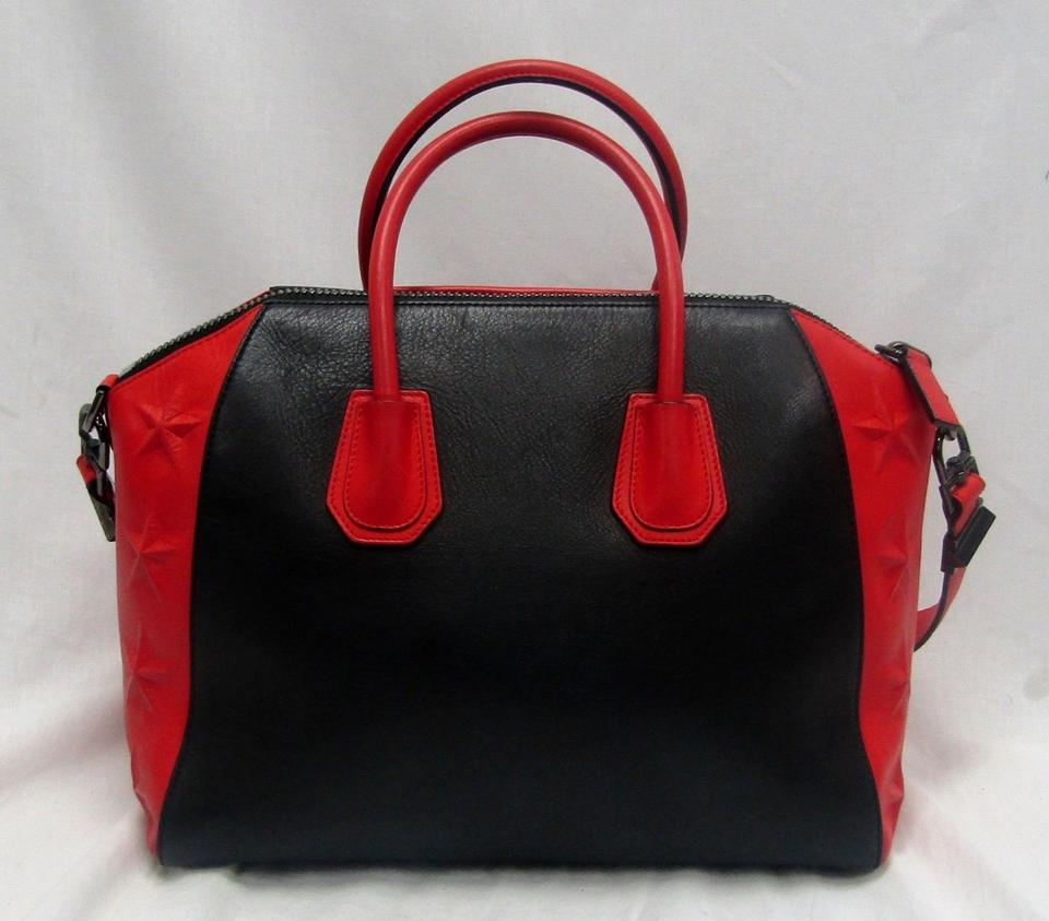ebcc2e3388c8 Givenchy Limited Edition Medium Antigona Calfskin Stars Red Black ...