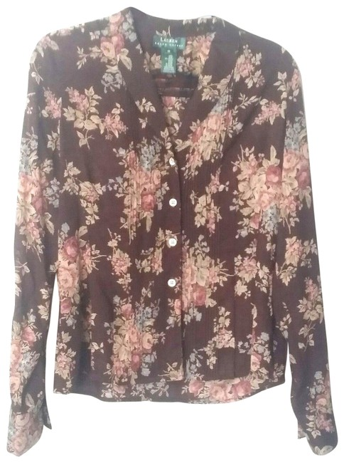 Polo Ralph Lauren Career Flowers Top Brown