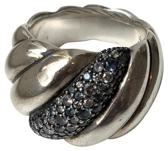 Preload https://item1.tradesy.com/images/david-yurman-blue-white-silver-diamond-75-topaz-sculpted-cable-ring-24009495-0-1.jpg?width=440&height=440