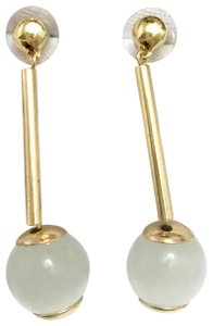 Lele Sadoughi lele stone drop gold evening earrings
