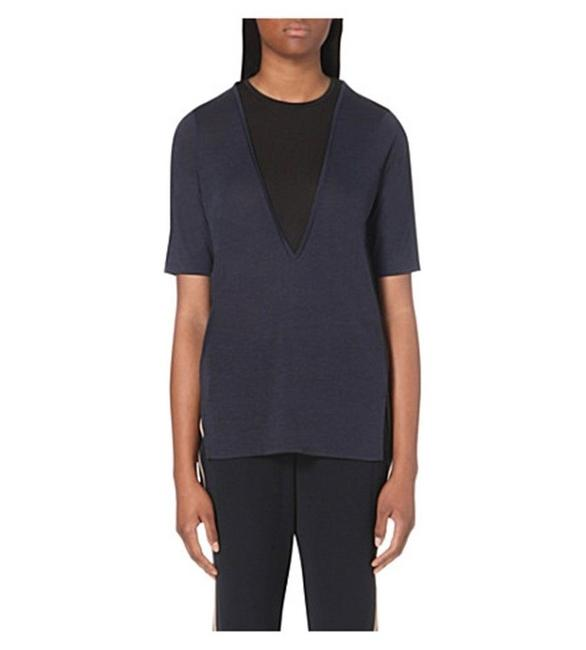 Preload https://item1.tradesy.com/images/vince-navy-black-new-xs-two-tone-jersey-lightweight-dark-blue-coastal-blouse-size-0-xs-24009515-0-0.jpg?width=400&height=650