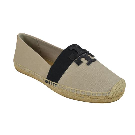 Tory Burch Canvas 8.5 Natural/ Black Flats
