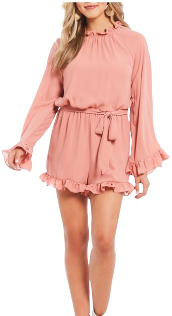 Preload https://item3.tradesy.com/images/gb-pink-bell-sleeve-short-romperjumpsuit-size-4-s-24009542-0-1.jpg?width=400&height=650