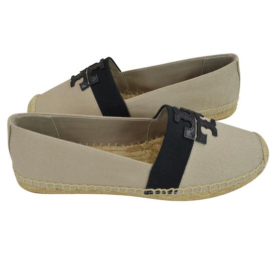 Tory Burch Canvas 9.5 Natural/ Black Flats