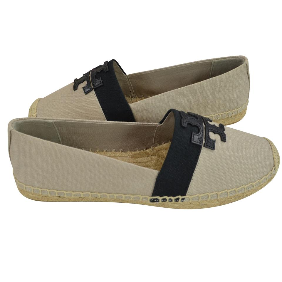 d19acd7950e Tory Burch Natural  Black Weston Espadrille Canvas Flats Size US 9.5 ...