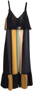 A Pea In The Pod Striped Flounce Maternity Dress